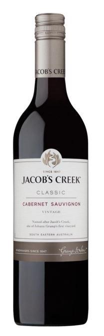 Jacobs Creek Classic Cabernet Sauvignon 2018 (12 x 750mL), SE AUS.