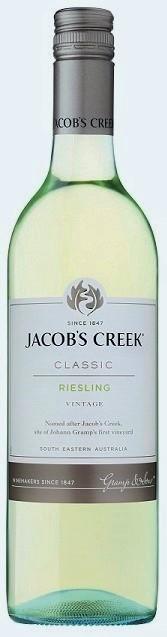 Jacobs Creek Classic Riesling 2019 (12 x 750mL), SE, AUS.