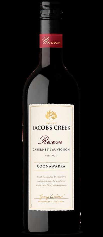 Jacobs Creek Reserve Cabernet Sauvignon 2016 (6 x 750mL), Coonawarra.