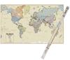 HEMISPHERES Large Laminated World Map, 1550 x 965mm. (SN:HM03B) (270223-573