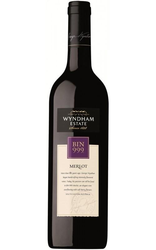 George Wyndham `Bin 999` Merlot 2019 (6 x 750mL), SE AUS.