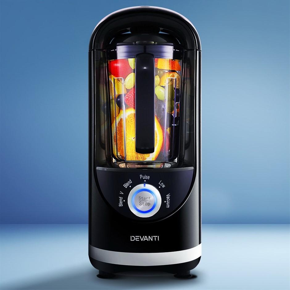 Devanti Vacuum Blender Juicer Mixer Food Processor Smoothie Black
