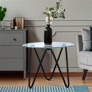 Artiss Coffee Table Glass High Gloss Dis