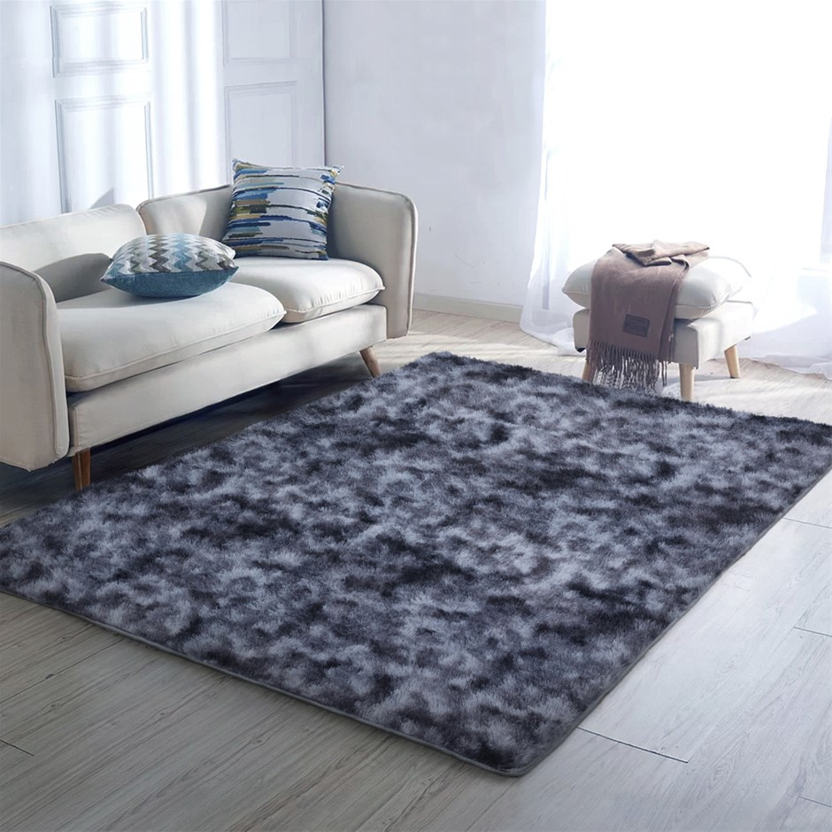 Artiss Gradient Floor Rugs Large Shaggy Carpet Rug 200x230cm Soft Area