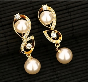 18k Gold Plated With Simualtion Pearl an