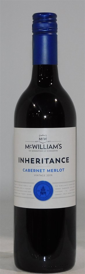 McWilliams Inheritance Cabernet Merlot 2019 (12x 750mL) NSW.