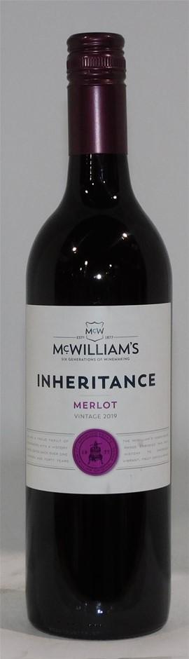 McWilliams Inheritance Merlot 2019 (12x 750mL) SEA.