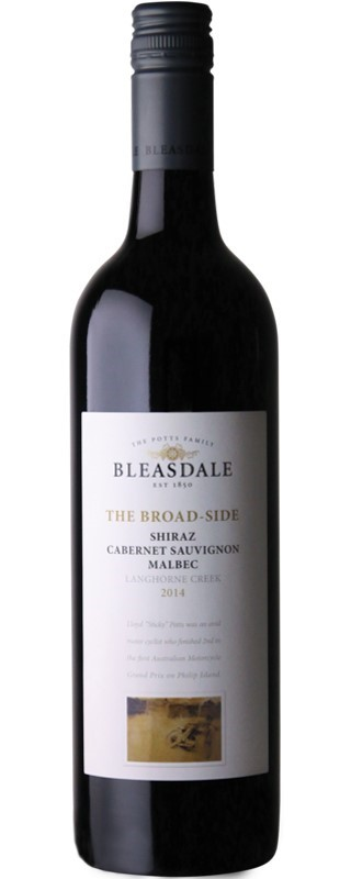 Bleasdale `The Broad-Side` Shiraz Cabernet Malbec 2017 (6 x 750mL), SA.