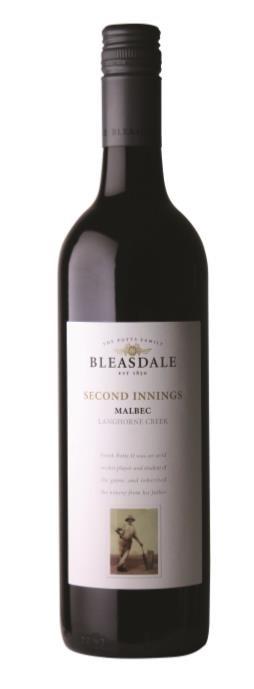 Bleasdale `Second Innings` Malbec 2017 (6 x 750mL), Langhorne Ck, SA.