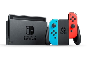 NINTENDO Switch Console with Neon Joy-Co