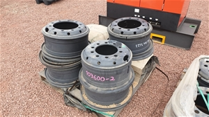 Pallet of assorted truck wheels rims