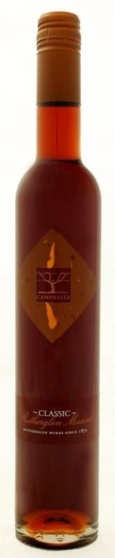 Campbells `Classic` Rutherglen Muscat NV (6 x 500mL), VIC.