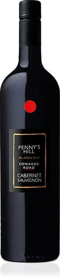 Penny's Hill Edwards Road' Cabernet Sauvignon 2018 (6 x 750mL), SA.