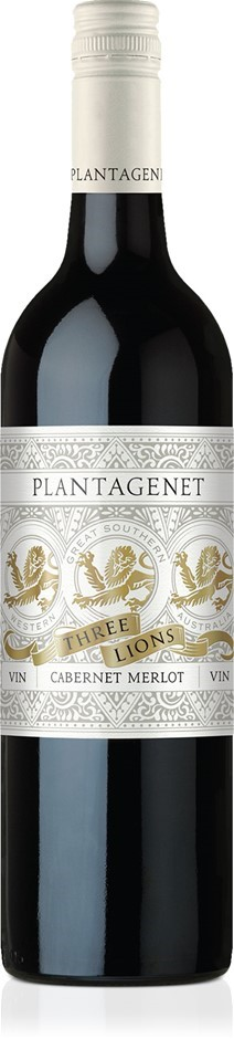 Plantagenet Three Lions Cabernet Merlot 2017 (12 x 750mL), Great Southern.