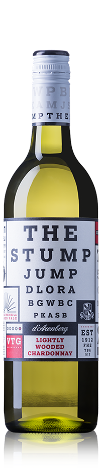 d'Arenberg The Stump Jump Lightly Wooded Chardonnay 2019 (12x 750mL). SA