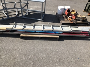 Pallet Containing Ladder, Steel Tube and
