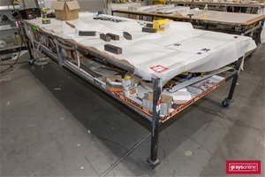 3 x Mobile Work Benches, 2 Tier