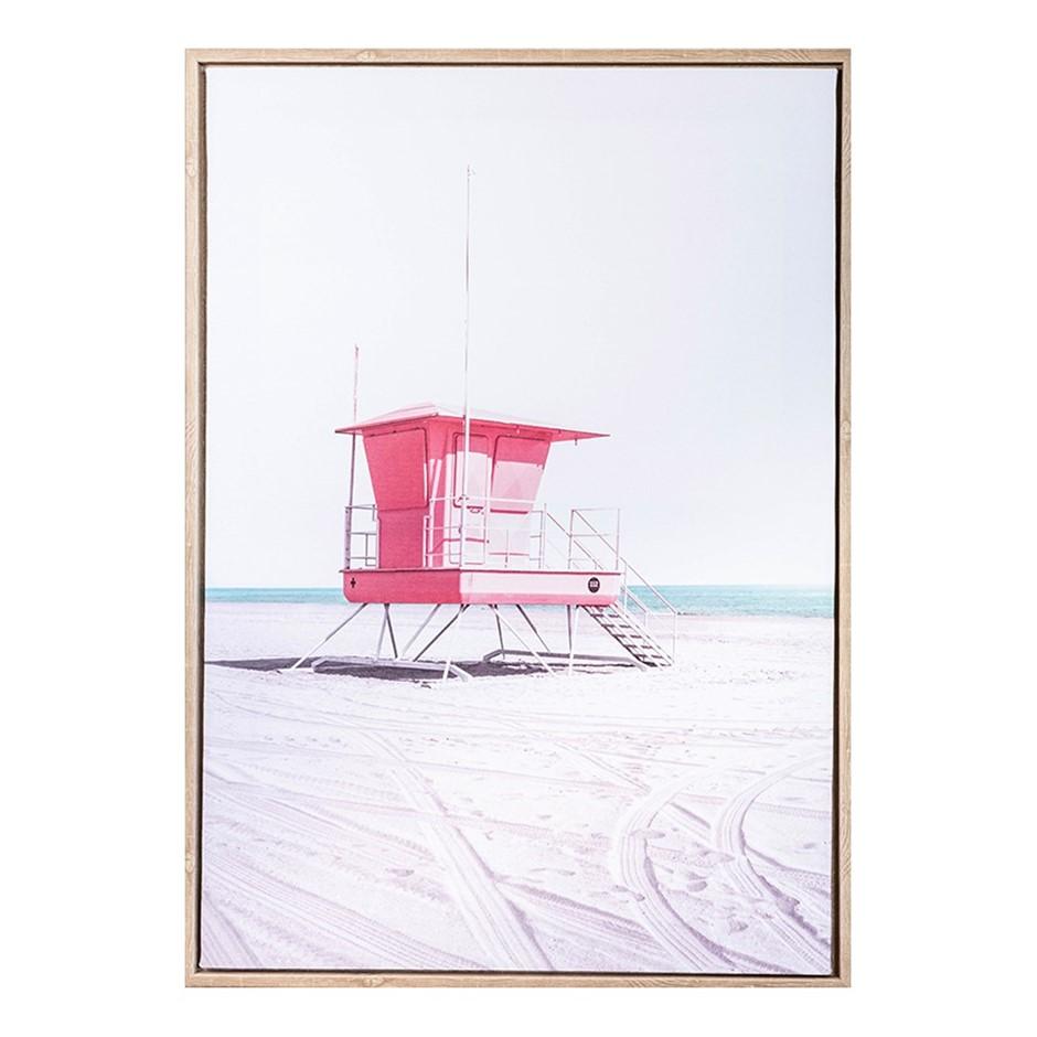 Lifesaver Beach Summer AFramed Print 50X70