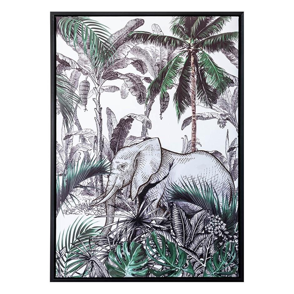 Elephant in the JungleFramed Print 50X70