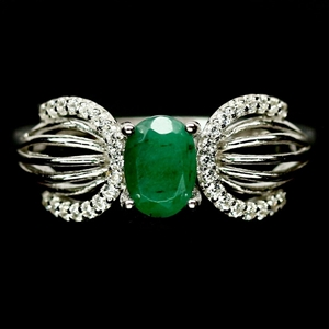 Beautiful Unique Genuine Emerald Ring