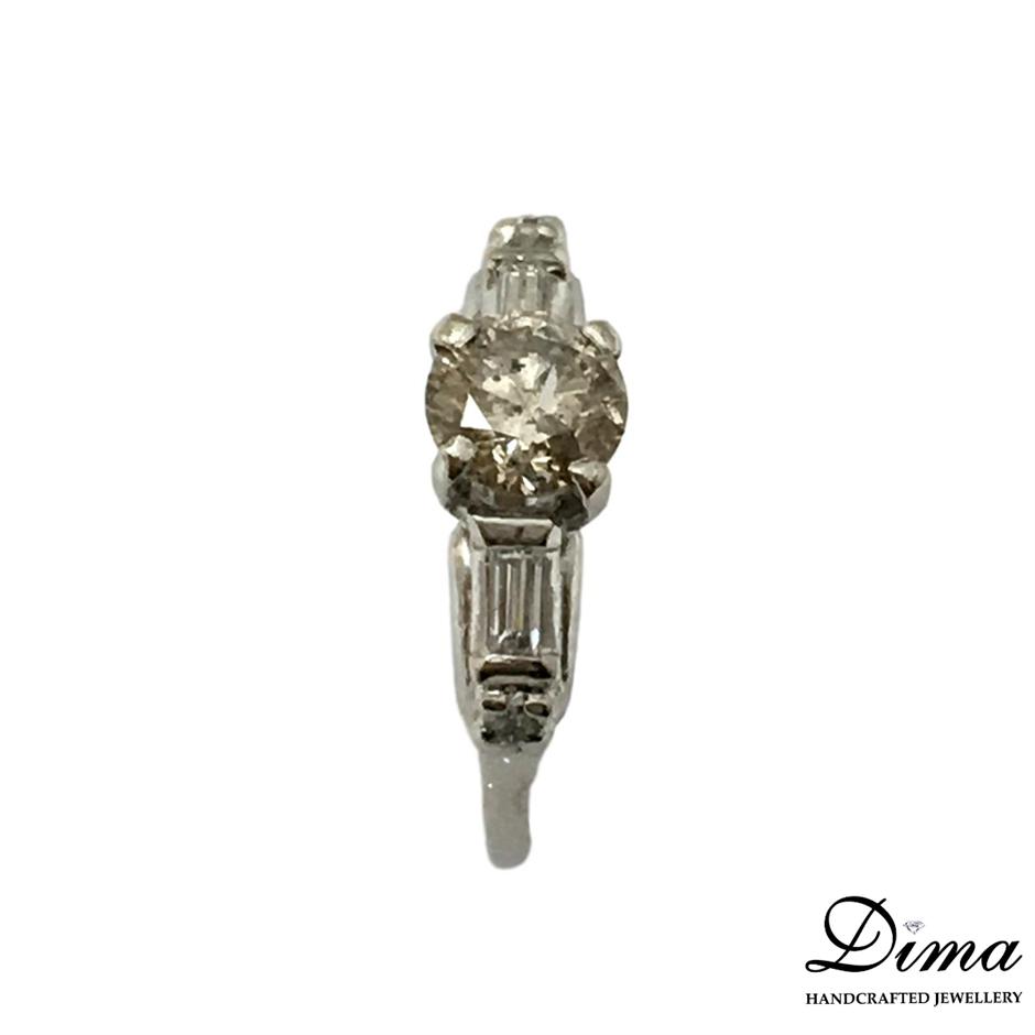 One Ladies 1.08ct Diamond Engagement Ring