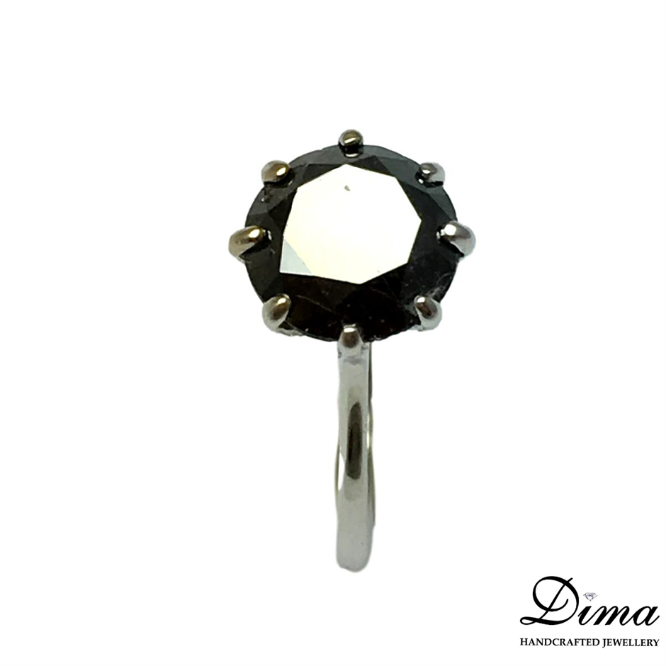 18ct White Gold, 3.48ct Diamond Ring