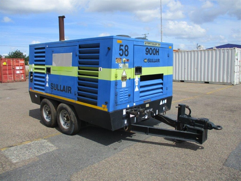 Sullair 900 CFM Dual Axle Compressor Trailer