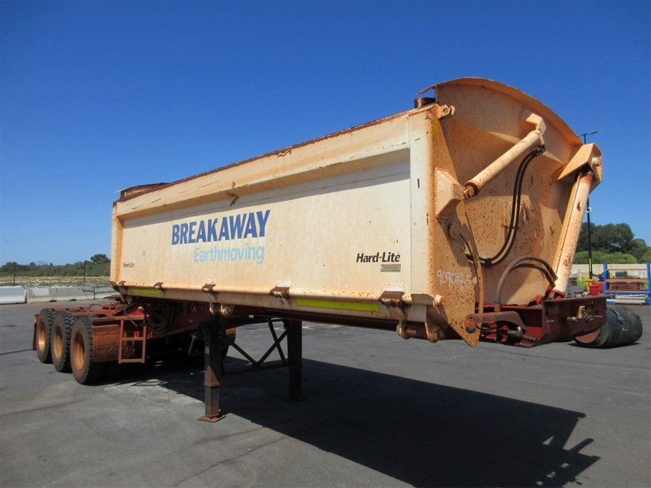 2013 Road West Transport TRI350 Triaxle Side Tipping `A` Trailer