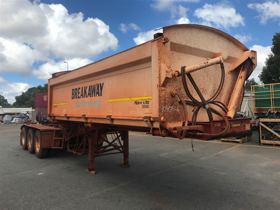 2012 Road West Transport TRI350 Triaxle Side Tipping `A` Trailer