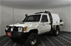 Ex-Fleet 2012 Toyota Landcruiser Workmate (4x4) Turbo Diesel Cab Chassis