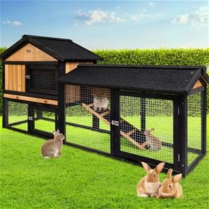i.Pet Rabbit Hutch Hutches Large Metal R