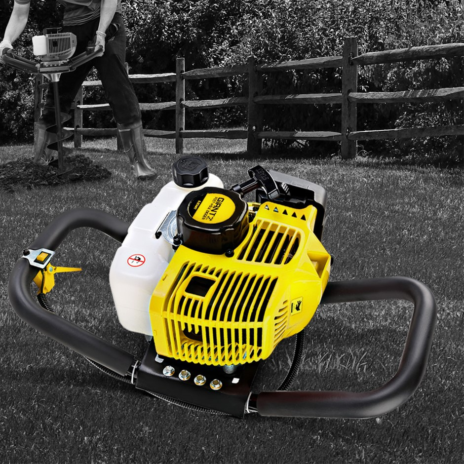 Giantz Post Hole Digger 66CC Petrol Only Engine Motor Borer Fence