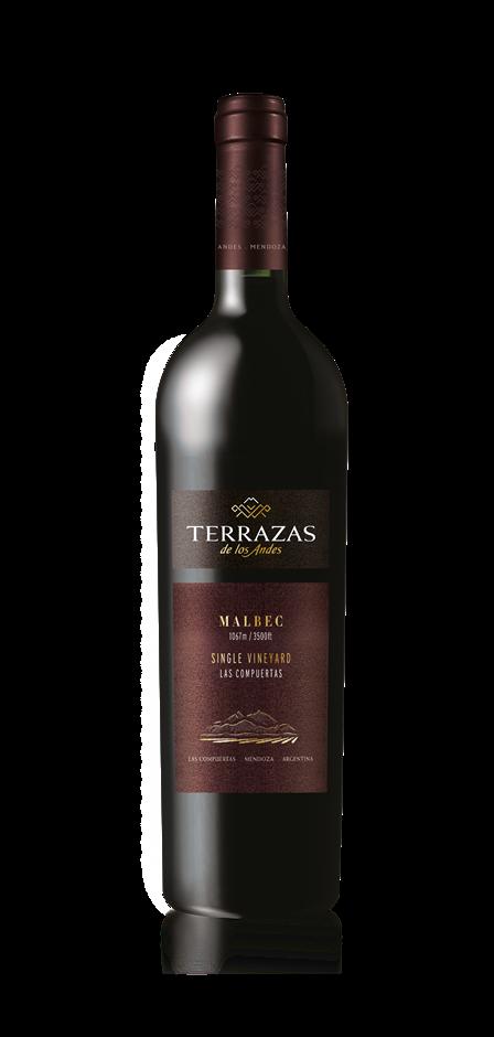 Terrazas de los Andes Las Compuertas Single Vineyard Malbec 2015 (6x 750mL)