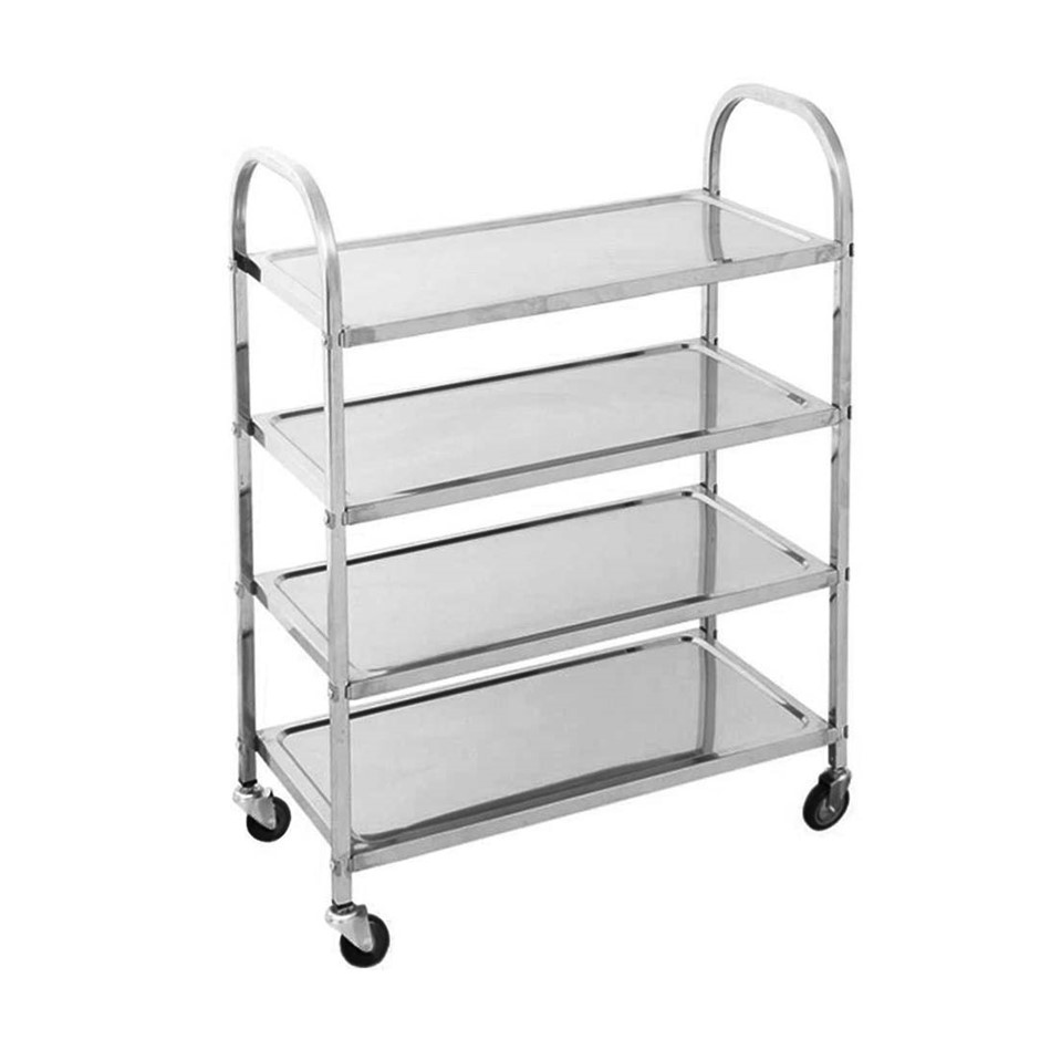 SOGA 4 Tier S/S Kitchen Dining Food Cart Trolley Utility 950x500x1220