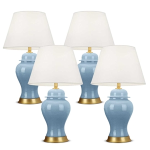 SOGA 4x Oval Ceramic Table Lamp with Gol
