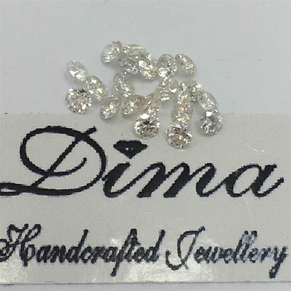 Twenty Stones Diamond, 0.28ct in Total