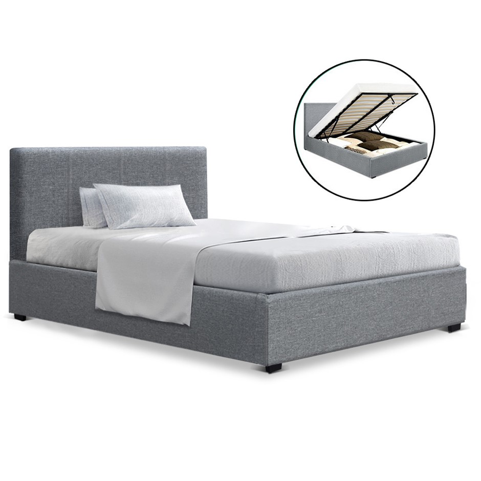 Artiss King Single Size Gas Lift Bed Frame Base