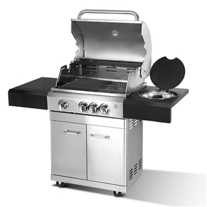 Grizze Stainless Steel 4 Burner BBQ Gril