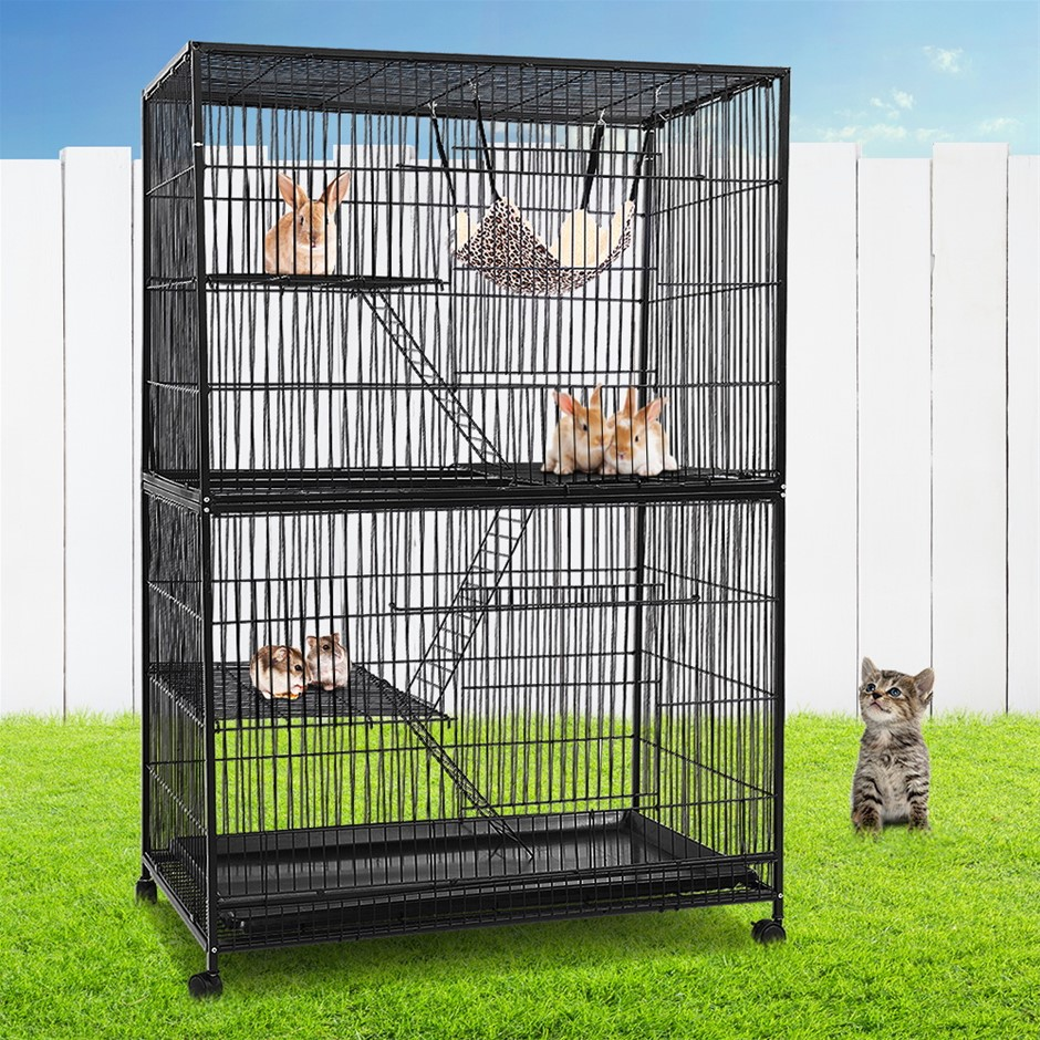i.Pet 4 Level Rabbit Cage Bird Ferret Parrot Aviary Cat Hamster Castor