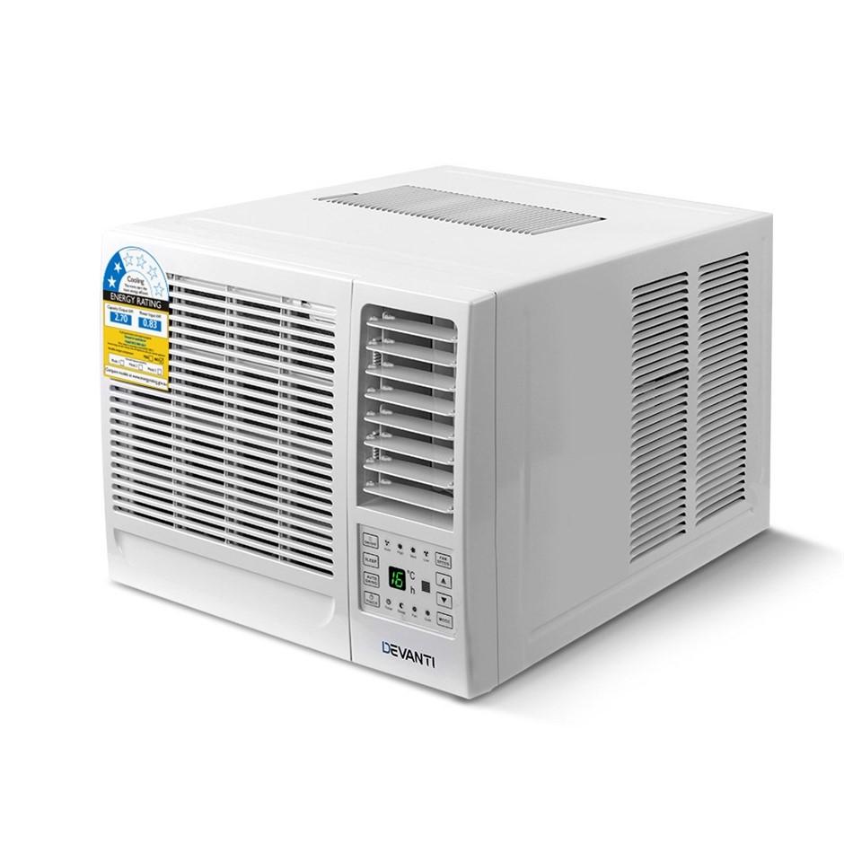Devanti Window Air Conditioner Portable w/o Reverse Cycle 2.7kW Cooler Fan