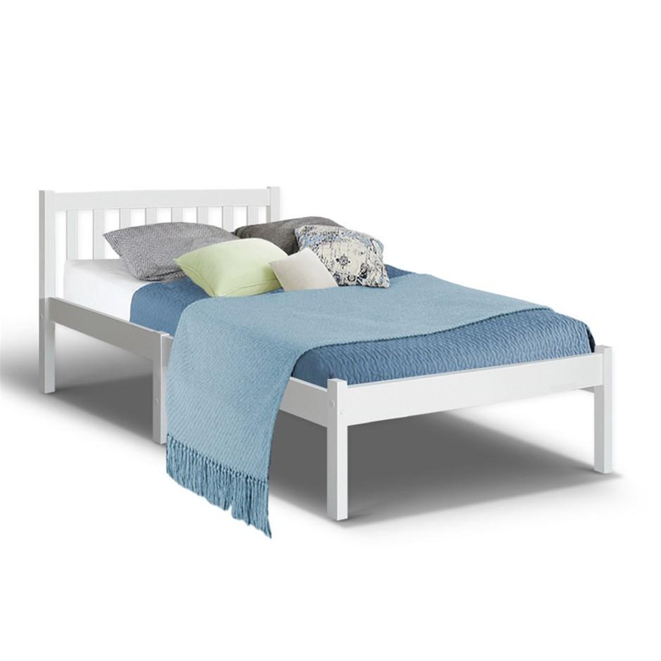Artiss Single Wooden Bed Frame Pine Timber Mattress Size Base Bedroom
