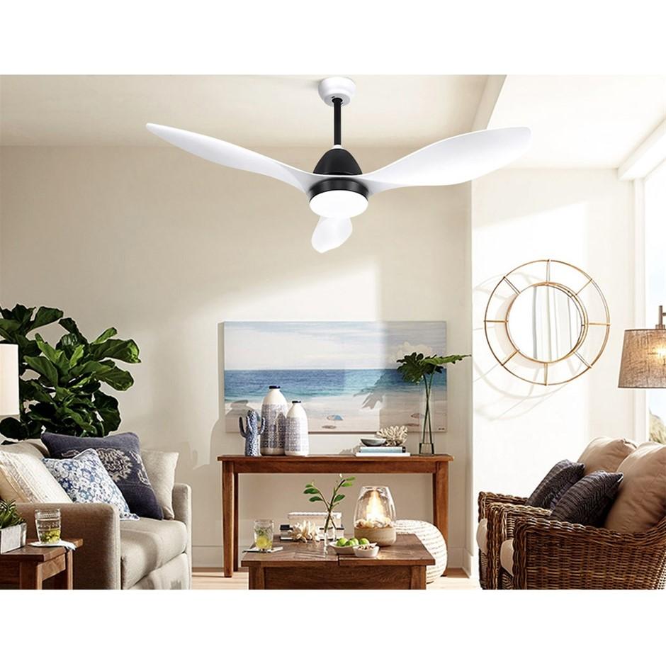 48'' DC Motor Ceiling Fan w/LED Light w/Remote 8H Timer