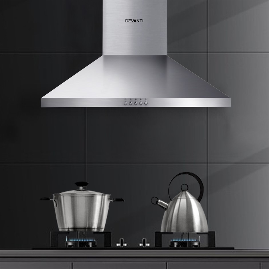 Devanti Range Hood 60cm 600mm Kitchen Canopy Rangehood Wall Mount