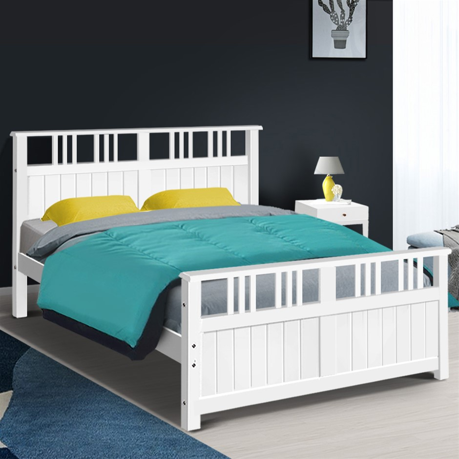 Artiss Wooden Bed Frame Timber Double EVA Kids Adults Mattress Bed Base