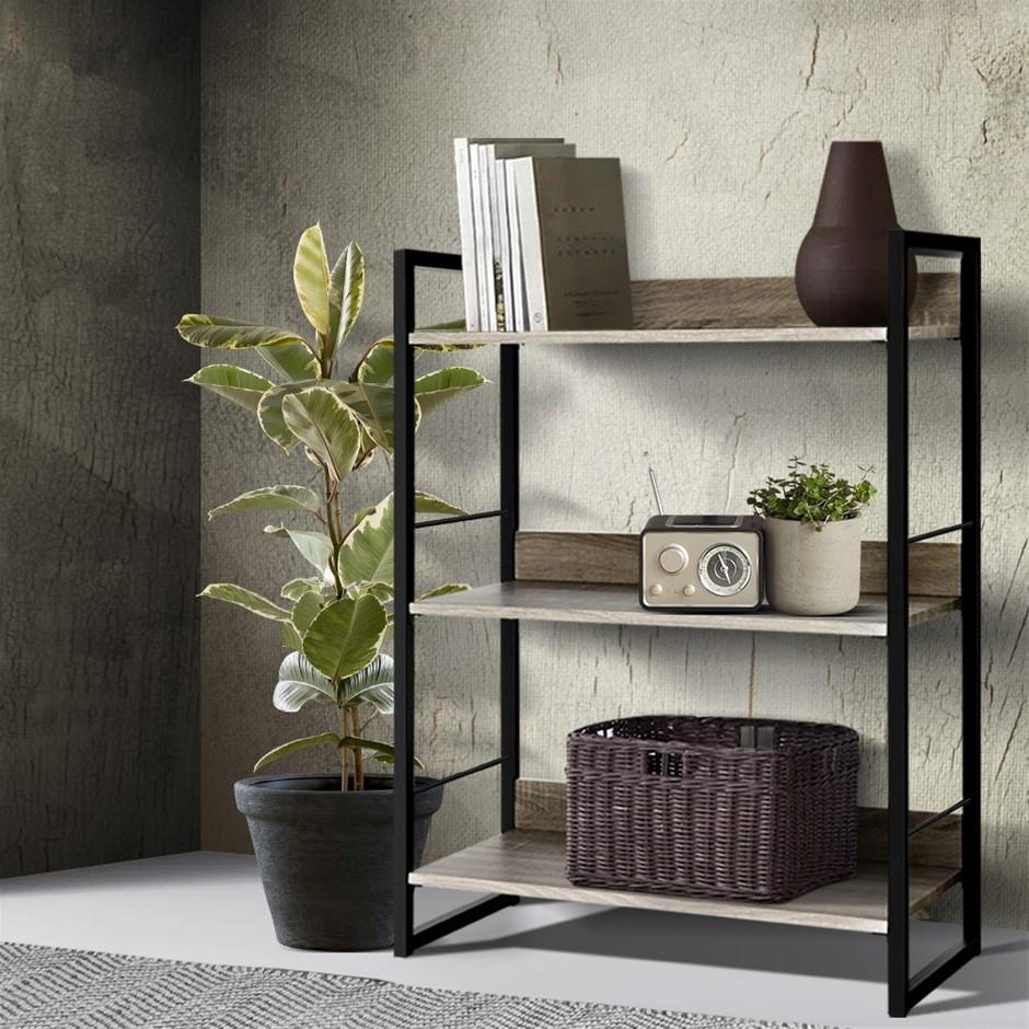 Artiss Bookshelf Display Shelves Wooden Book Shelf Wall Corner