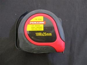 Qty 6 x Fuller 10m x 25mm Tape Measure