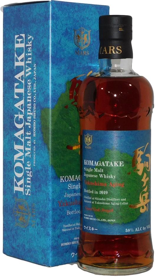 Mars Komagatake Yakushima Aging Single Malt Japanese Whisky 2019 (1x 700mL)