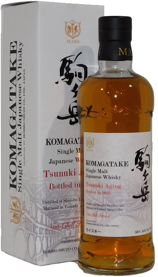 Mars Komagatake Tsunuki Aging Single Malt Japanese Whisky 2019 (1x 700mL)