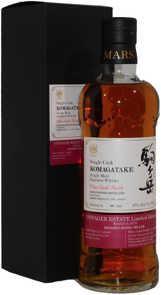 Mars Shinshu Komagatake Voyager 266 Bottle Single Malt Whisky (1x 700mL)