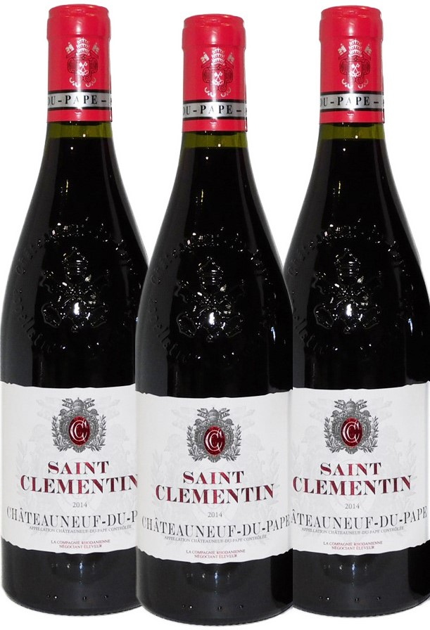 St Clementine Chateauneuf Du Pape 2014 (3x 750ml),Rhone. Cork closure